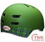 Bell Faction Matte Olive Plaid  ' L '